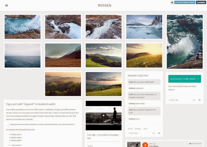 115 Free And Premium Tumblr Themes Webprecis