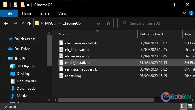 Hasil akhir file Chrome OS | gaptogeek