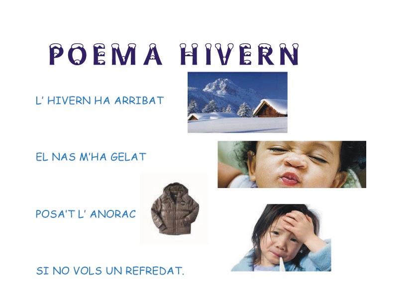 EDUCACI INFANTIL POEMA D HIVERN