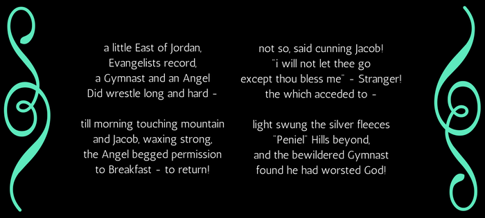 Emily Dickinson's 145 (59) A Little East of Jordan (text)