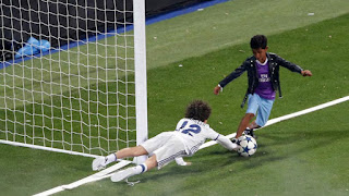 Cristiano Junior scored his first goal at the Bernabeu, after a mazy dribble