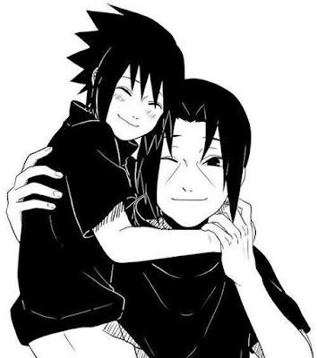 Gambar itachi dan sasuke warna hitam putih