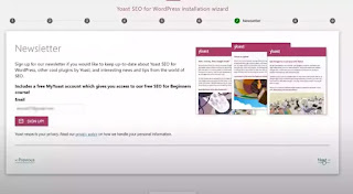 f you want to sign up for their newsletter you can do that by clicking on the sign up button:Yoast SEO