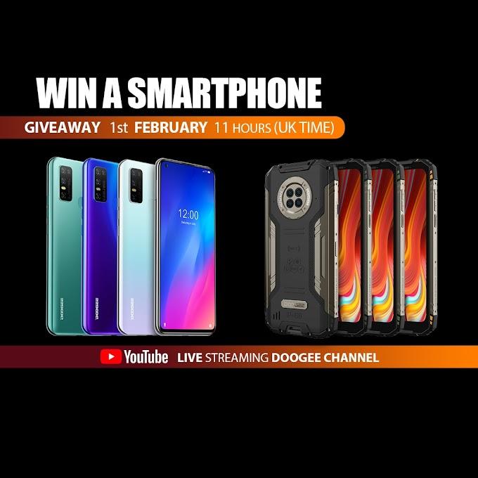Sorteio de 6 Smartphones DOOGEE N30 ou DOOGEE S96 PRO