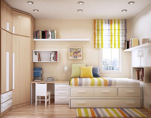 Desain Kamar Tidur Minimalis Ukuran 3×3 dengan Furnitur Multifungsi