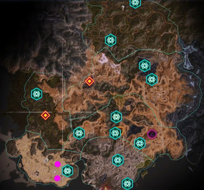 Rage 2, Arks Locations Map