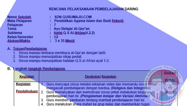 DOWNLOAD RPP PAI 1 LEMBAR KELAS 1 SEMESTER 2