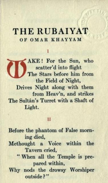 Rubaiyat of Omar Khayyam 1912 Translated by Edward