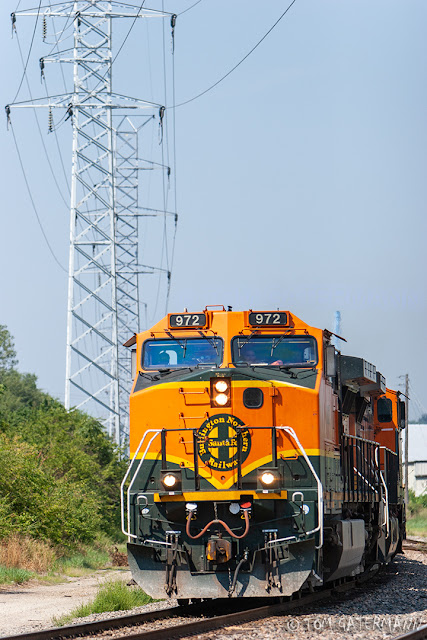 BNSF 972 Eastbound On The Hannibal Subdivision at South Kingshighway Blvd.