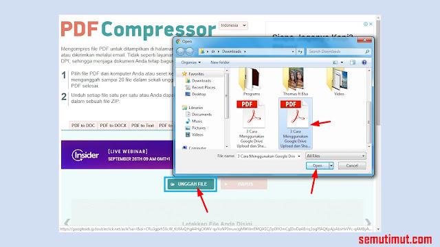 cara kompres pdf dengan pdf compressor