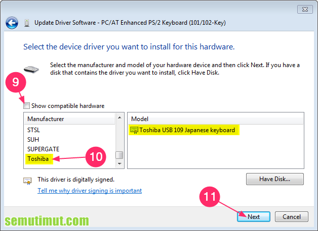 cara menonaktifkan keyboard laptop yang error