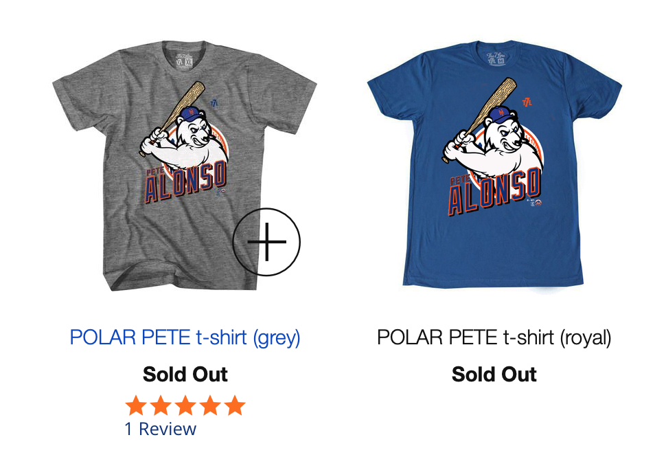 b890a4af I guess Pete Alonso is pretty popular. The 7line was dropping these shirts  as soon as he hit his next HR. Folks didn't have to wait too long though.
