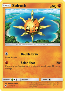 Solrock Burning Shadows Pokemon Card