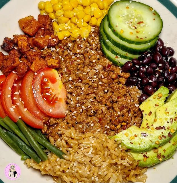 Sweet Chilli Pork Rice Bowl Recipe   Low Calorie
