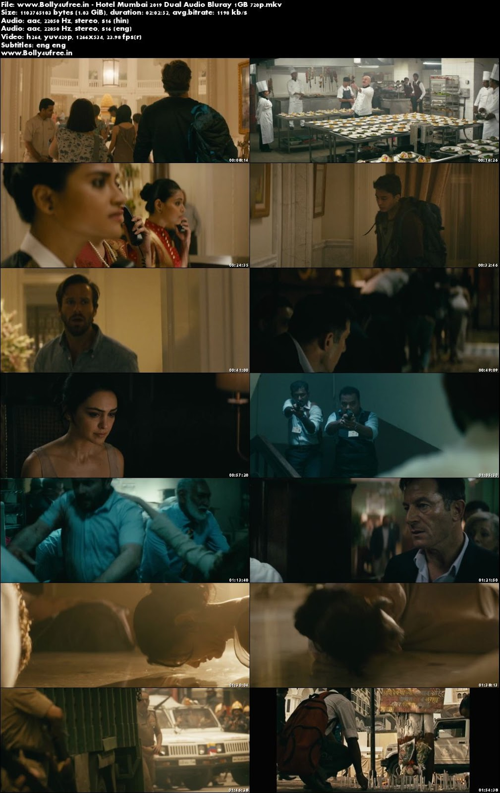Hotel Mumbai 2019 Hindi Dual Audio Bluray 1GB 720p