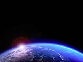 地球の夜明け(素材)
