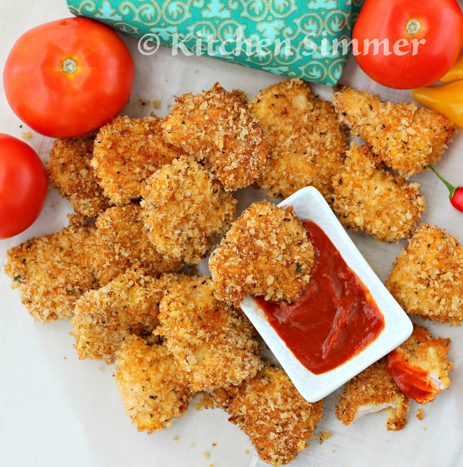 Oven Baked Parmesan Cheese Chicken Nuggets