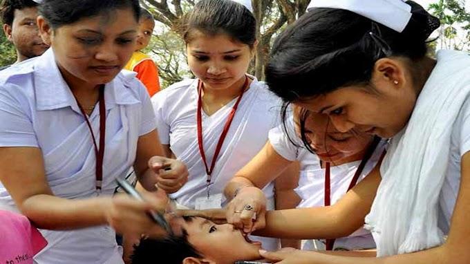 இந்தியா முழுவதும் இன்று ஒரே நாளில் சுமார் 89 லட்சம் குழந்தைகளுக்கு போலியோ சொட்டு மருந்து