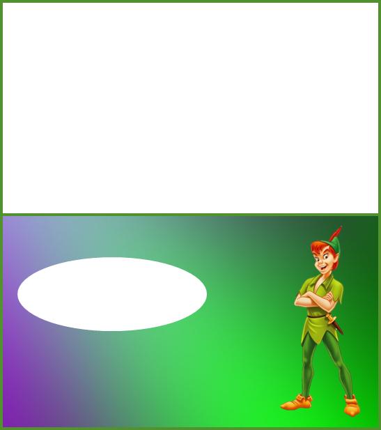 Para hacer invitaciones, tarjetas, marcos de fotos o etiquetas, para imprimir gratis de Peter Pan.