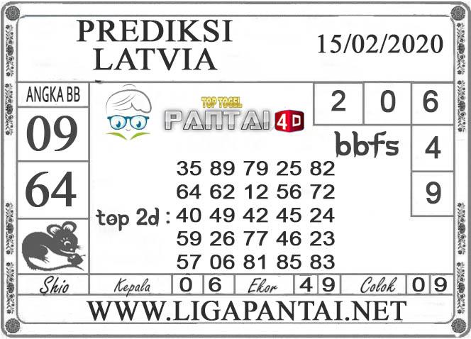PREDIKSI TOGEL LATVIA PANTAI4D 15 FEBRUARI 2020