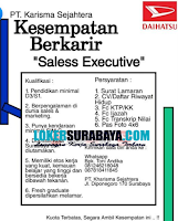 Karir Surabaya di PT. Kharisma Sejahtera (Daihatsu) Oktober 2020