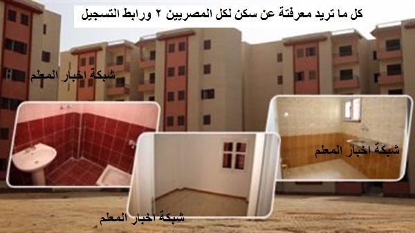 موقع التسجيل في مشروع سكن لكل المصريين ٢ www.shmff.gov.eg