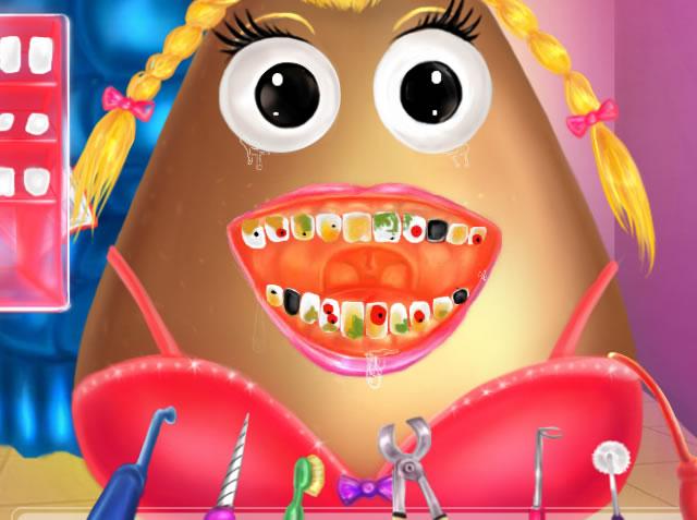Dentista da Menina Pou