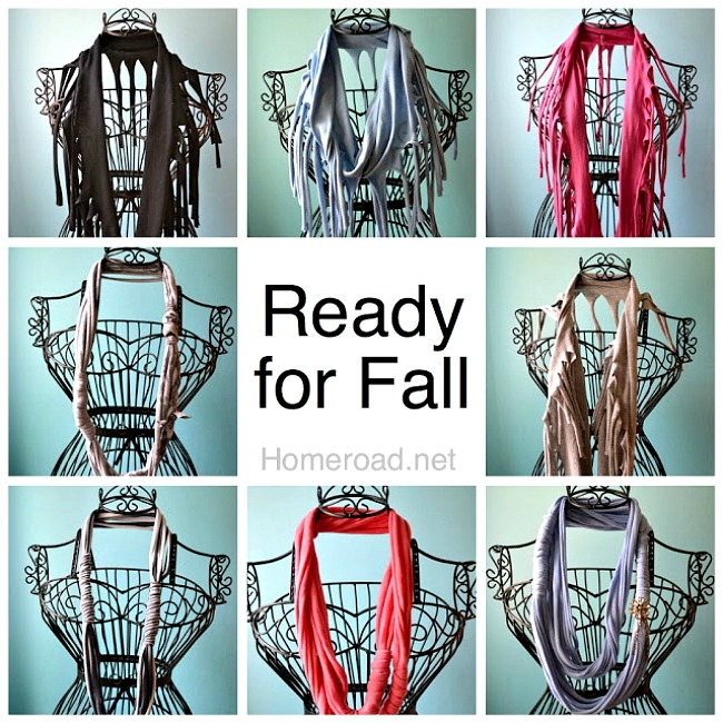 Ready for Fall How to make a Dyed Fringed T-Shirt Scarves