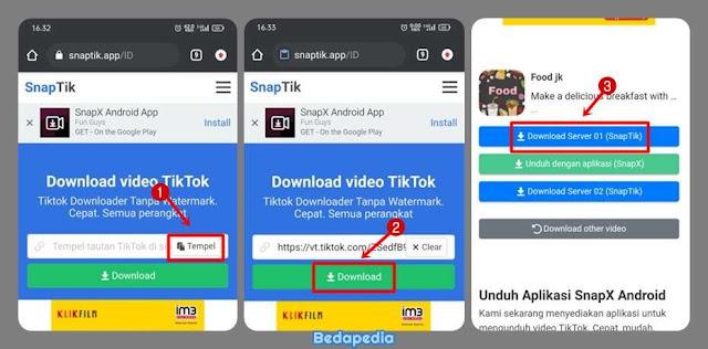 Unduh Video dari TikTok Tanpa Watermark - Snaptik