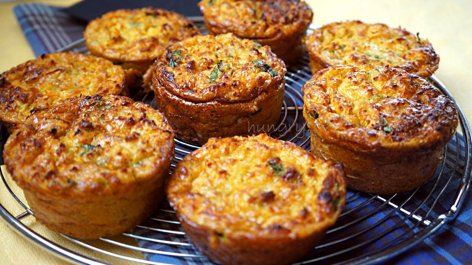 savoury muffins healthy and fluffy with grated zucchini and carrot a ...
