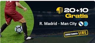 bwin promocion Real Madrid vs City 26 febrero 2020