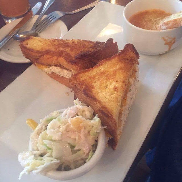 grilled tuna sandwich at Flaherty's Carmel