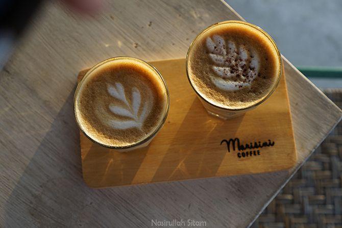 Berbagai pesanan minuman di kedai kopi Marisini Jogja