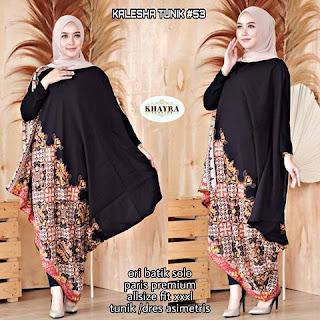 Batik Tunik Kalesha Paris Dress Asimetris kode53