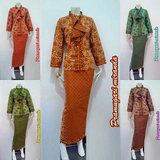 Baju Model Pramugari Dasi Miranda Batik Bagoes Solo