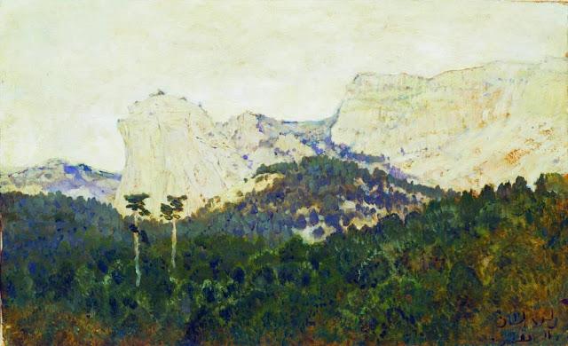Исаак Ильич Левитан - Горы. Крым. 1886