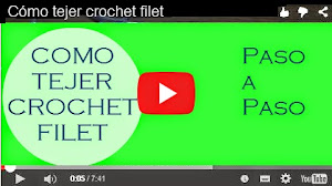 CURSO CROCHET: Cómo tejer Crochet Filet