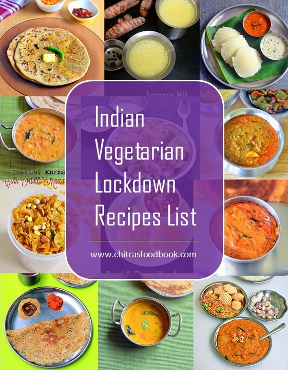 Lockdown recipes list Indian vegetarian with Pdf