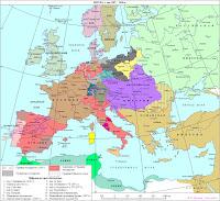 Карта Европы 1807-1810 годов.
