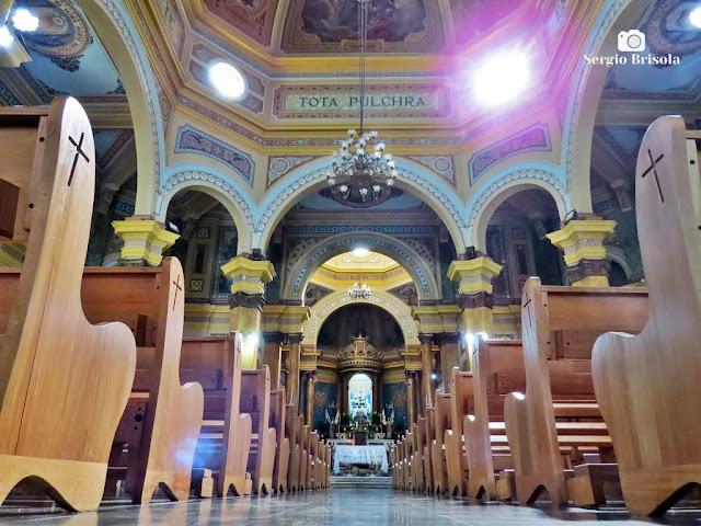 Perspectiva artística do interior da Paróquia Nossa Senhora Achiropita - Bela Vista / Bixiga - São Paulo