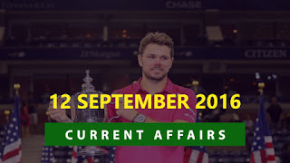 Current Affairs 12 September 2016
