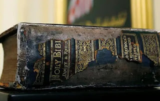 Historic: See The 130 Year Old Family  Bible Used  For Joe Biden's Swearing In Ceremony