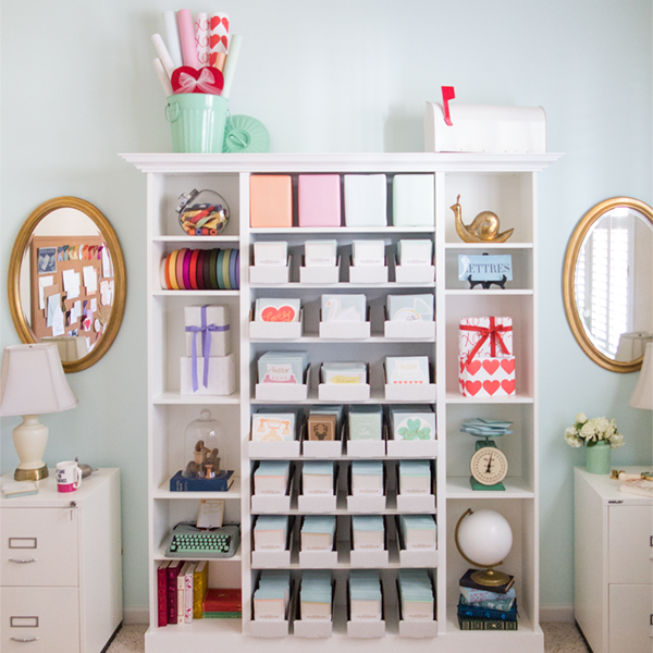 DIY Custom Bookcase by Love. Luck. Kisses & Cake Featuring the versatile IKEA BILLY Bookcase  |  LLK-C.com