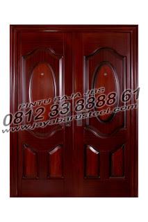 jual pintu motif kayu pintu baja minimalis tahan api banjarmasin