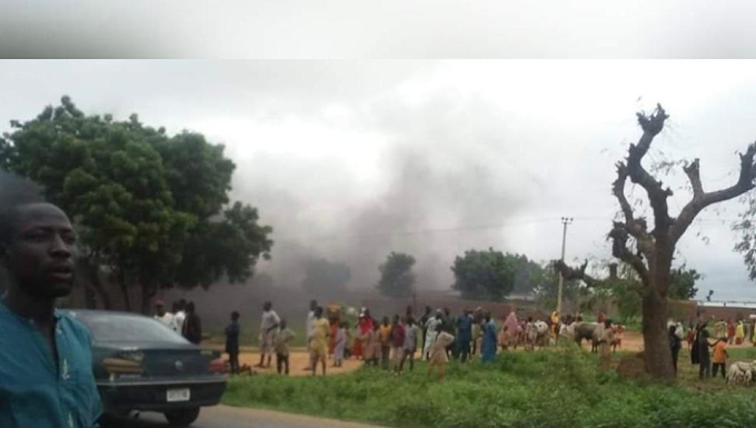 Katsina youths stage protest over declining state of insecurity within the state (photos)