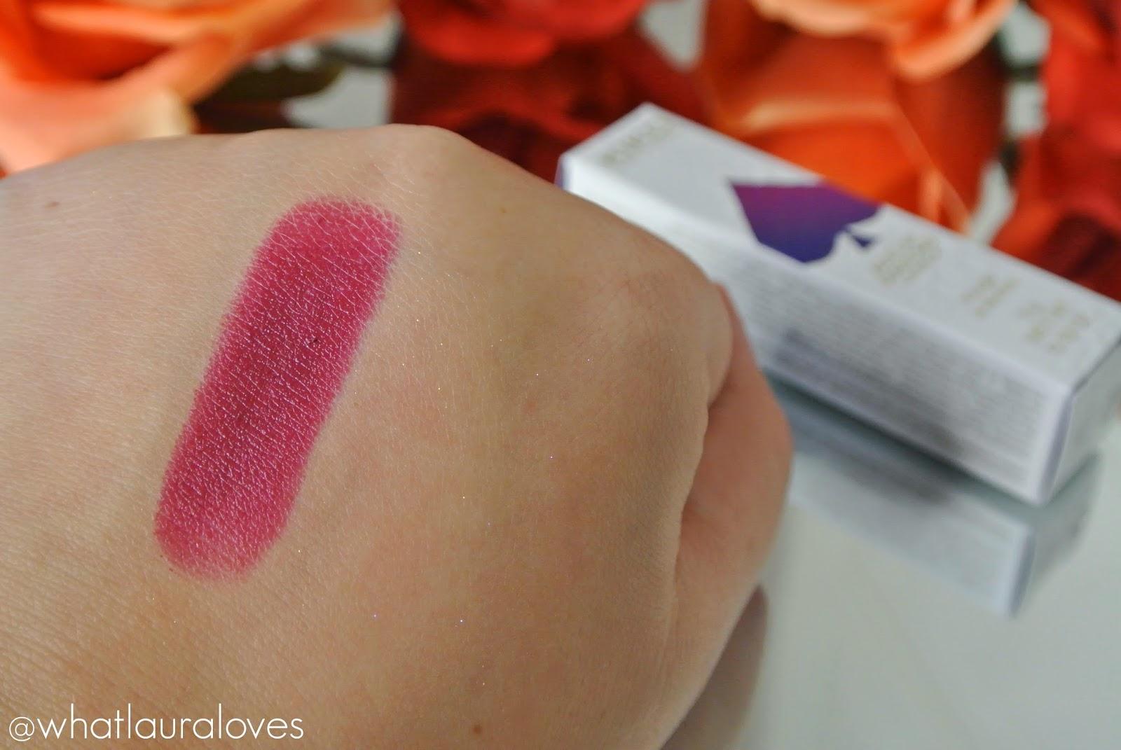 Kiko Ace of Diamond Lipstick Refined Burgundy Swatch