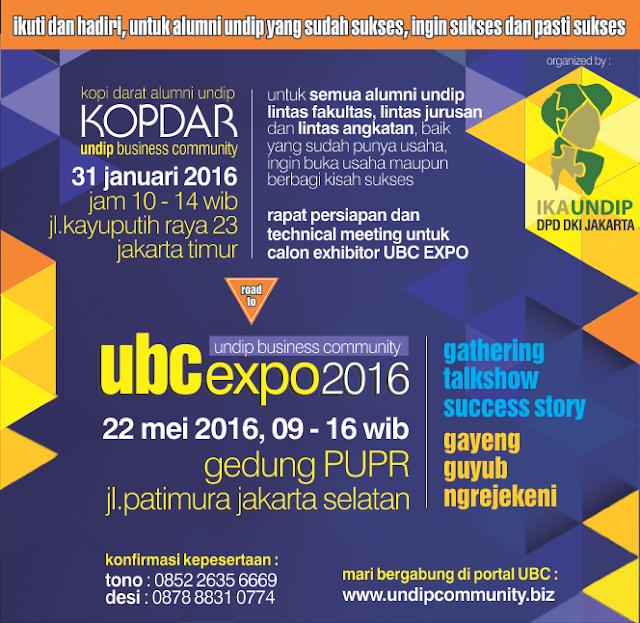 UBC Expo 2016 Undip Business Community DKI Jakarta Bulan Mei