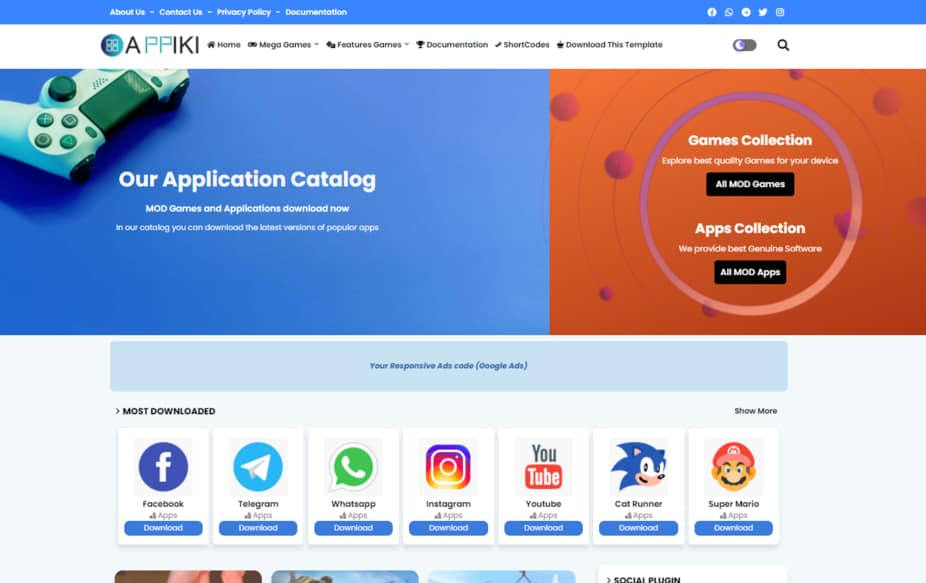 Blogger Template Appiki
