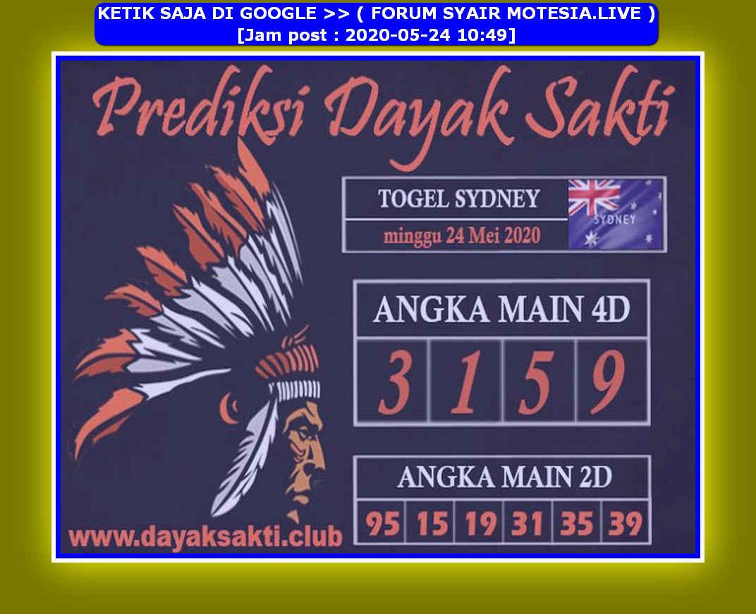 Kode syair Sydney Minggu 24 Mei 2020 106