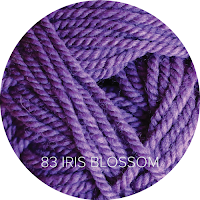 Ewe Ewe Yarns Wooly Worsted color 83-Iris Blossom